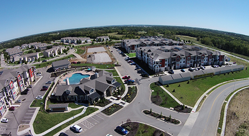 Brighton Creek Apts. Homes & Commerical Active Construction Project by Luke Draily Construction Company